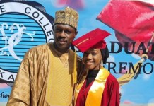 Actor Ali Nuhu Celebrate Daughter As She Graduates From Secondary School