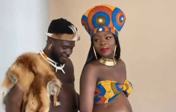 Nigerian Comedian Crazeclown And Fiancee Excited As They Expect Their First Child