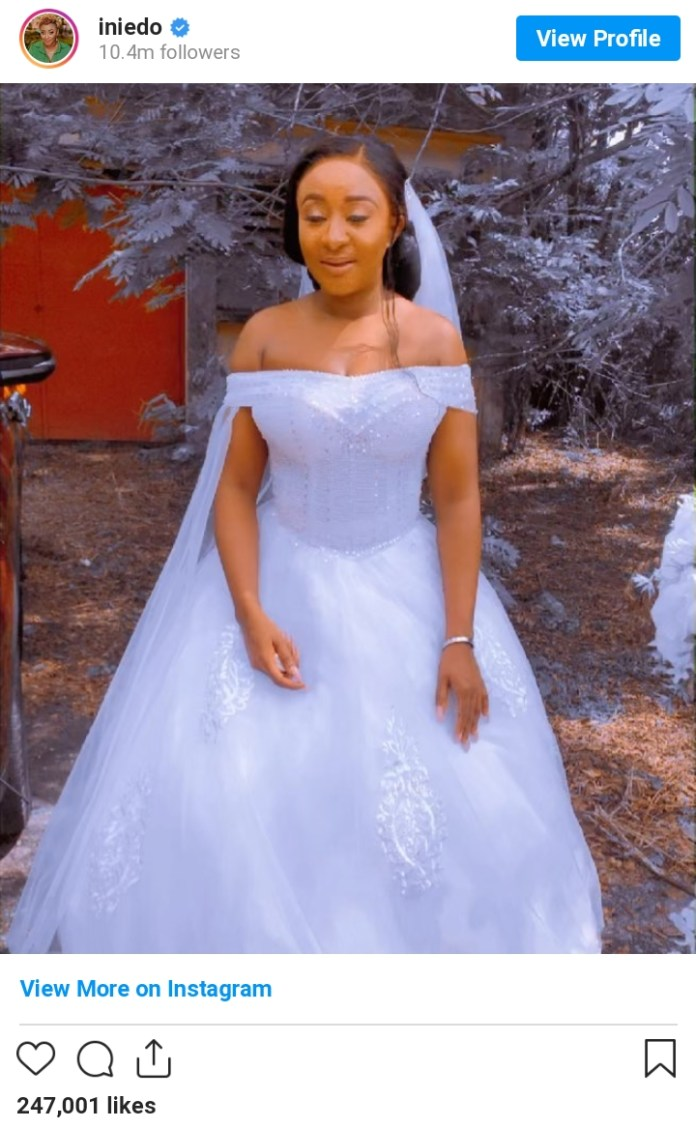 Actress Ini Edo Dazzles In Wedding Dress