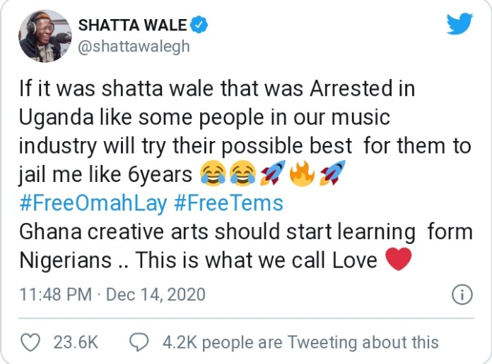 Shatta Wale Makes Shocking Revelation About Ghanaian Creatives