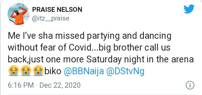 BBNaija: Praise Calls Out Organizers, See What He Told Them