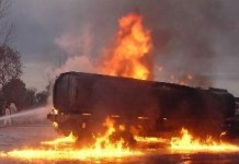 Traffic Gridlock As Tanker Catches Fire On Otedola Bridge