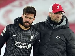 Liverpool Express Support For Alisson Following Father's Death