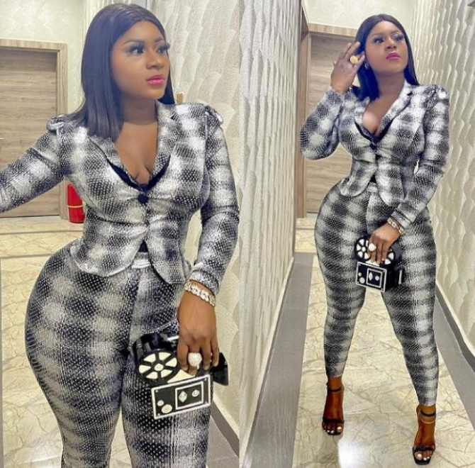 Nigerians Drag Actress Destiny Etiko Over Outfit She Wore To Visit Gov Yahaya Bello
