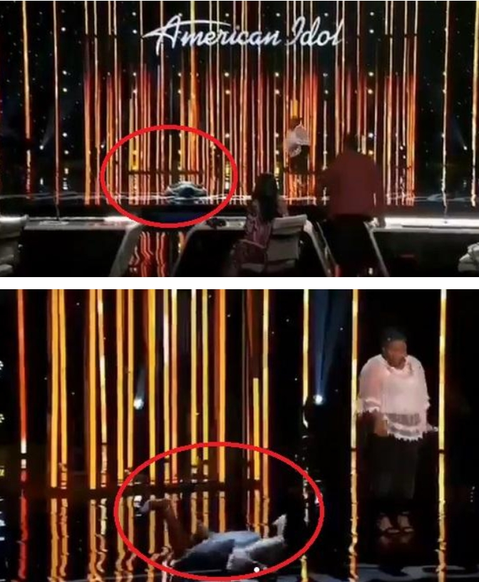 American Idol Contestant Funke Lagoke Collapse On Stage While Being Judged (Video)