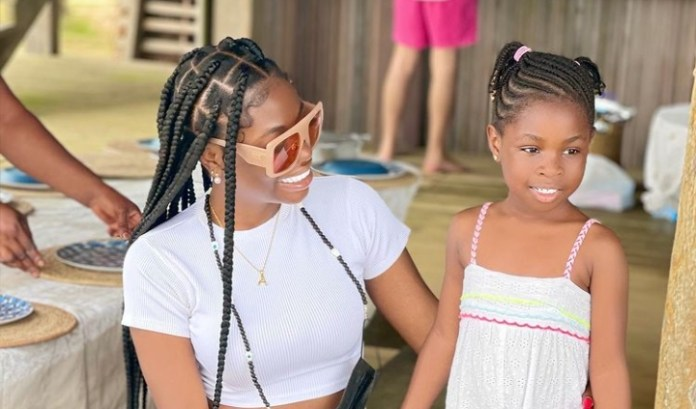 Watch Moment Davido's First Daughter Imade Speaks French Fluently With Her Aunt