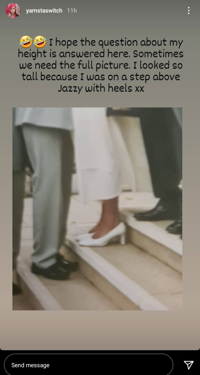 Don Jazzy's Ex-Wife Explains Why She Appeared Taller In The Viral Wedding Photo