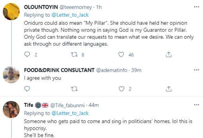Tope Alabi's claim was however nullified by some of her fans who slammed her for being jealous of the song.     Read comments below: