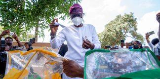 Sanwo-Olu, Hamzat Cast Votes As Local Govt Election Kicks Off