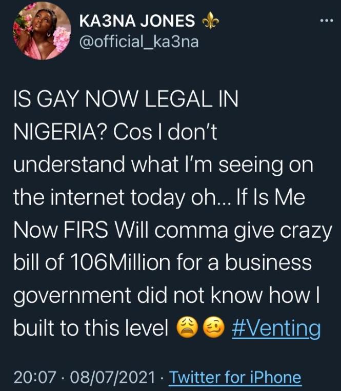 Is Gay Now Legal In Nigeria- BBNaija Ka3na Speaks On Bobrisky's New Photos