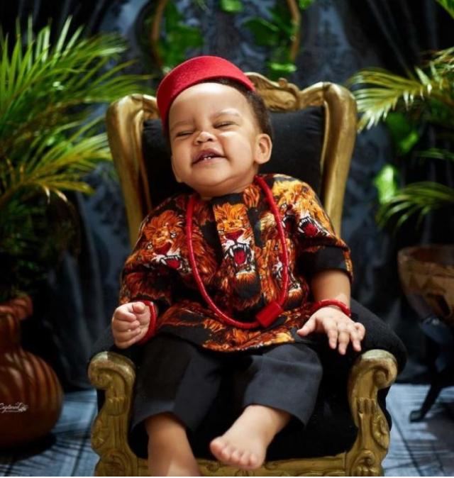 Linda Ejiofor, Ibrahim Suleiman Celebrate Their Son's First Birthday