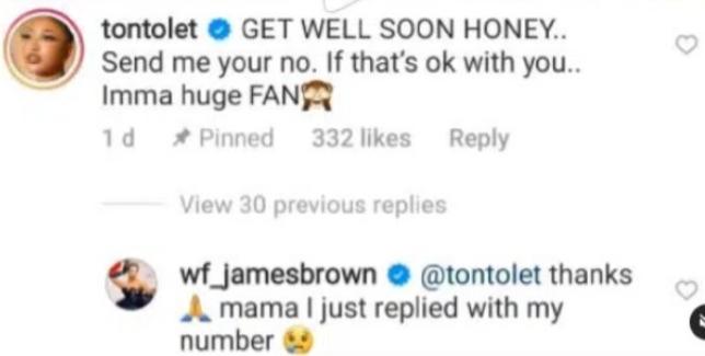 Reactions As Tonto Dikeh Dumps Bobrisky For James Brown
