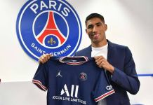 PSG's Hakimi Tests Positive For COVID-19
