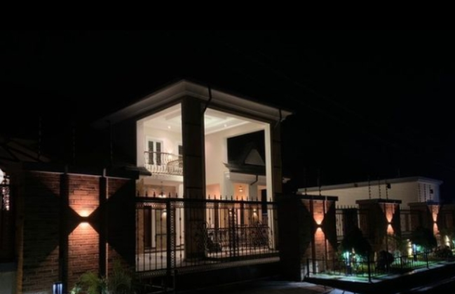 Actor, Okon Lagos Shows Off Newly Built Mansion