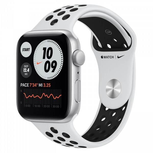 Apple Watch SE Nike 44mm GPS Silver Aluminum Case with Pure Platinum/Black