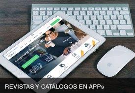 Revistas y catálogos en APPs