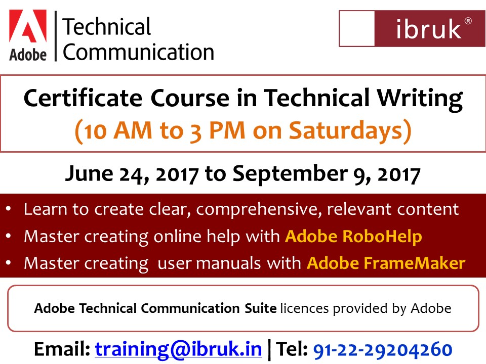 Mumbai 3 Month Certificate Course In Technical Writing Weekend