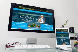Car Doctor Responsive Websites on monitor and tablet