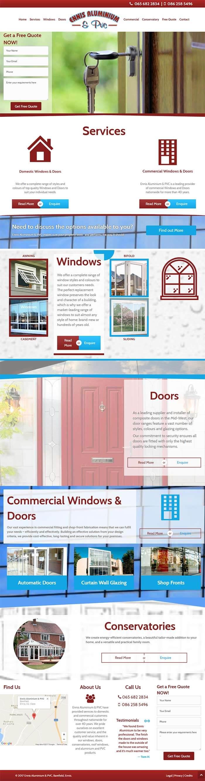 Ennis aluminium website full length