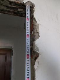 Измерение высоты дверного проёма