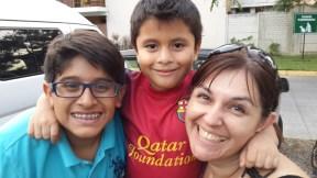 Julio, Johnito y Patty en la campaña...