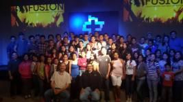 Con los jóvenes de VidaNueva en Campus Lourdes