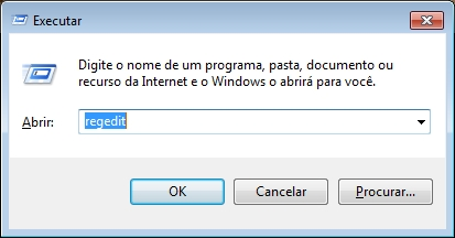 Janela Executar do Windows.