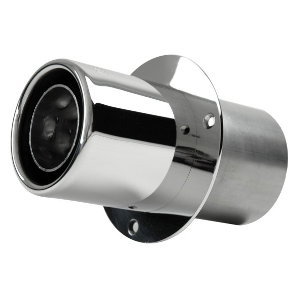 gibson polished stainless steel straight cut end exhaust tips w o flapper