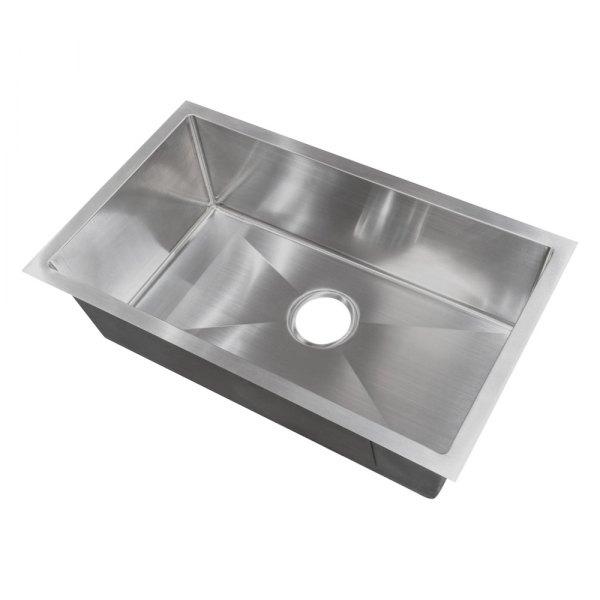 better bath 421572 stainless steel undermount rectangular single bowl kitchen sink 25 l x 15 w