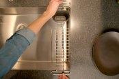 kohler 5473 chr kitchen sink utility rack