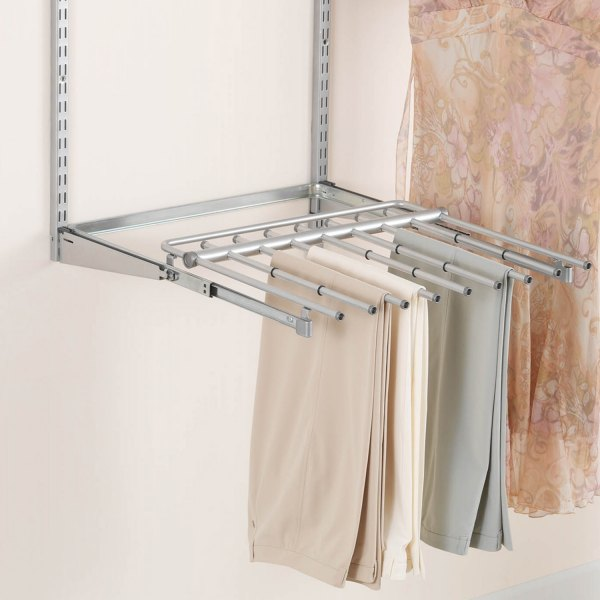 rubbermaid fg3j0602titnm configurations closet sliding pants rack