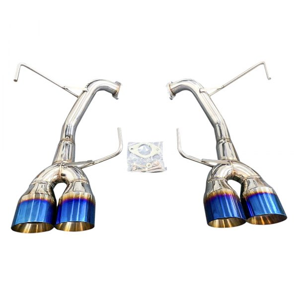 cnt racing stainless steel axle back exhaust system with quad rear exit