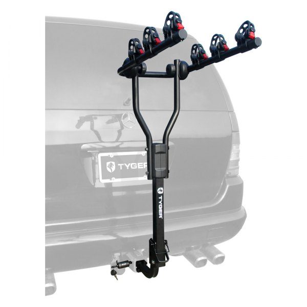 tyger tg rk3b101s deluxe hitch mount bike rack 3 bikes fits 1 1 4 and 2 receivers