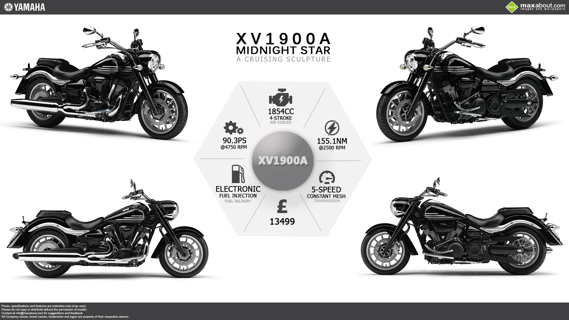 Yamaha Xv A Midnight Star Wallpaper