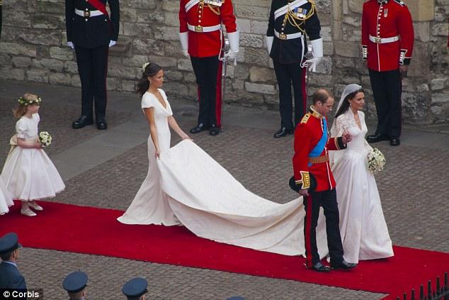 un grand mariage blanc  pour Kate Middleton
