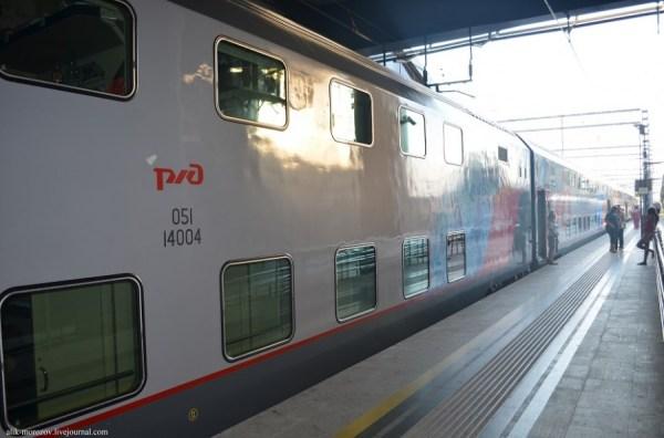 Поезд Двухэтажный Адлер Москва Фото