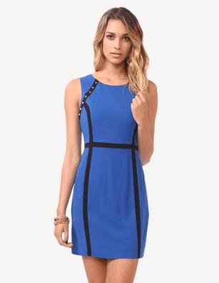 Spiked Contrast Paneled Dress $29.80