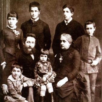 Семья Алчевских 1880-е гг.