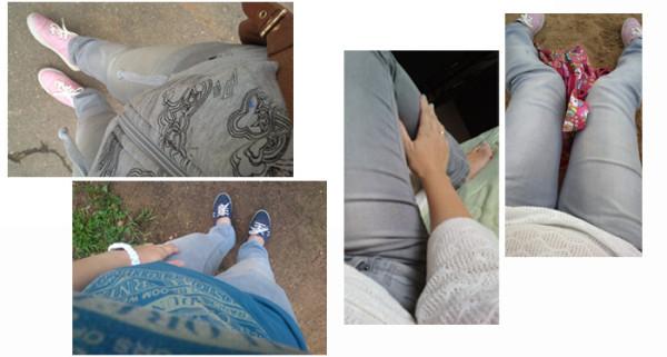 про серые джинсы