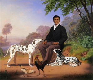 Charles_Christian_Nahl,_Sacramento_Indian_with_Dogs_1867