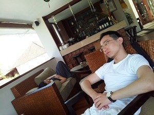 22 July 2012_YY & Val Exhausted from Mt Batur Climb