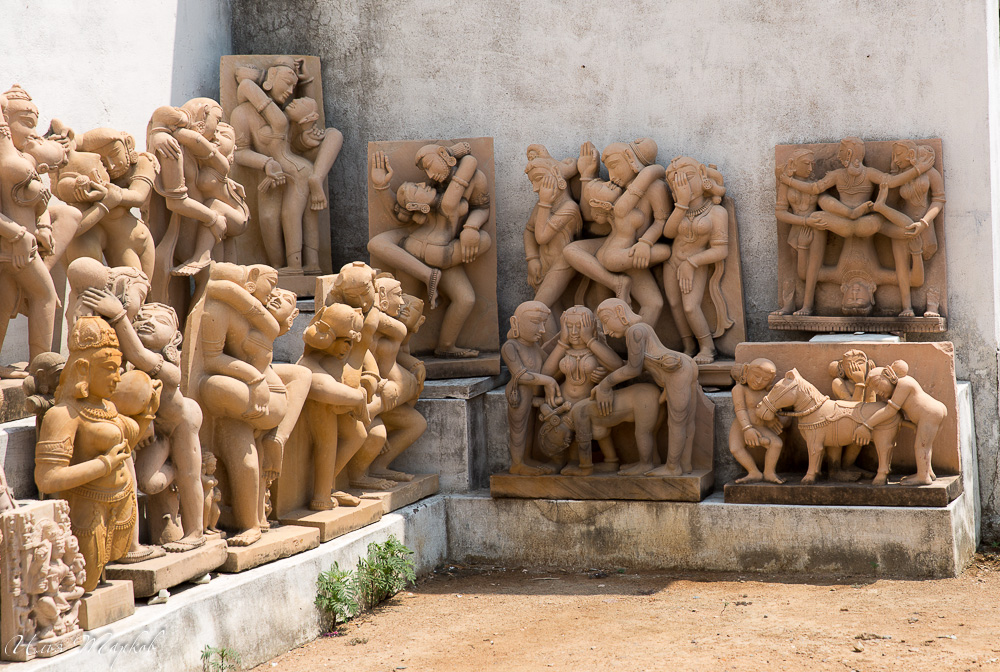 Sculptures Depicting People Having Sex On Stock Photo