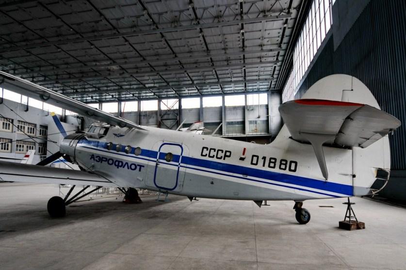 Ан-2 в Учебном ангаре киевского университета гражданской авиации