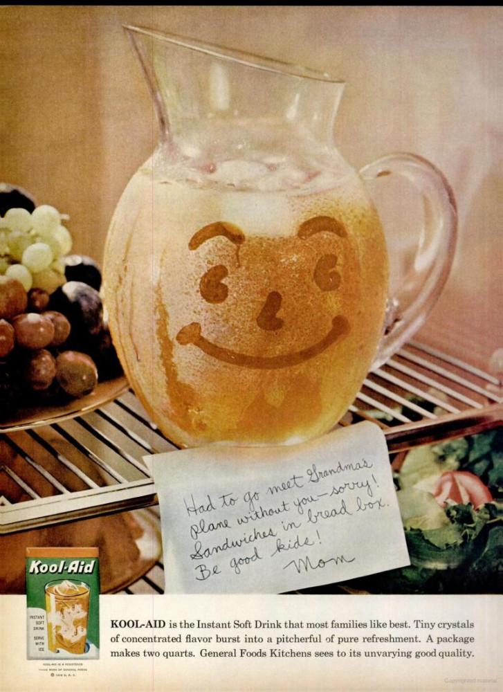 Suicidal Food Weekend Kool Aid Drink Mix 1950s And