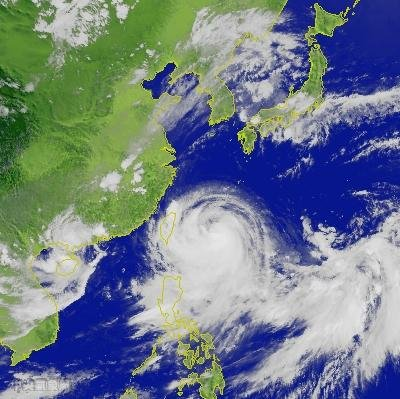 Tropical cyclone, Morakot, has a diameter 5 times that of Taiwan. This should be fun!