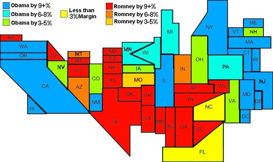 Electoral Map 9-29-2012
