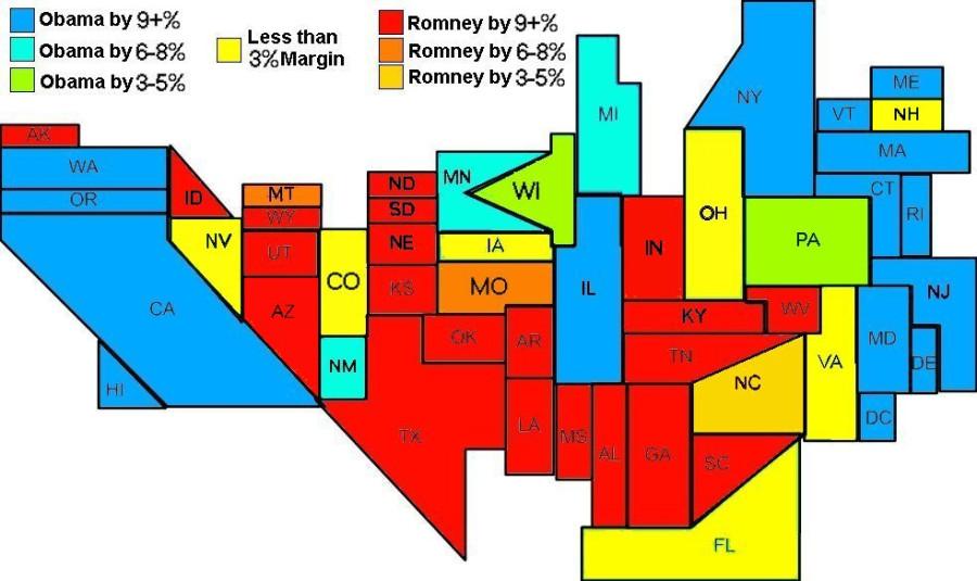Electoral Map 10-21-12