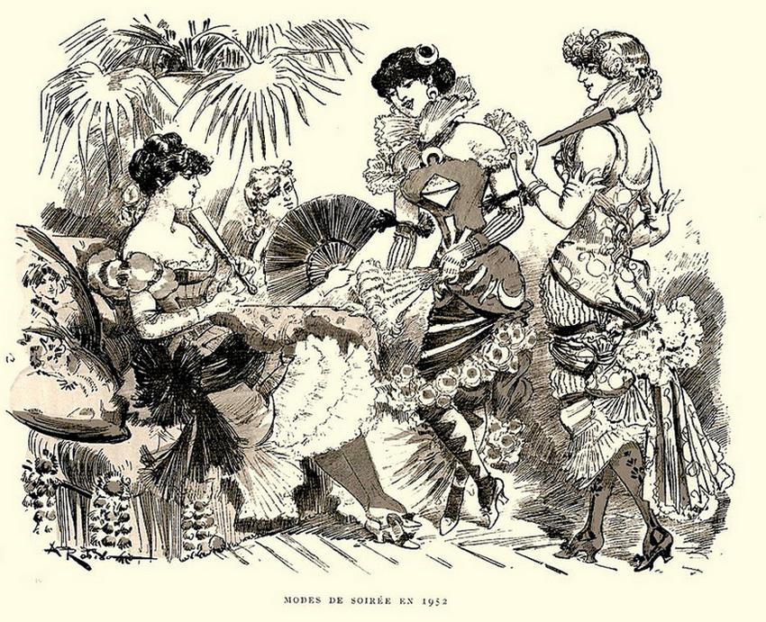 Scandalous Evening Dress in 1952