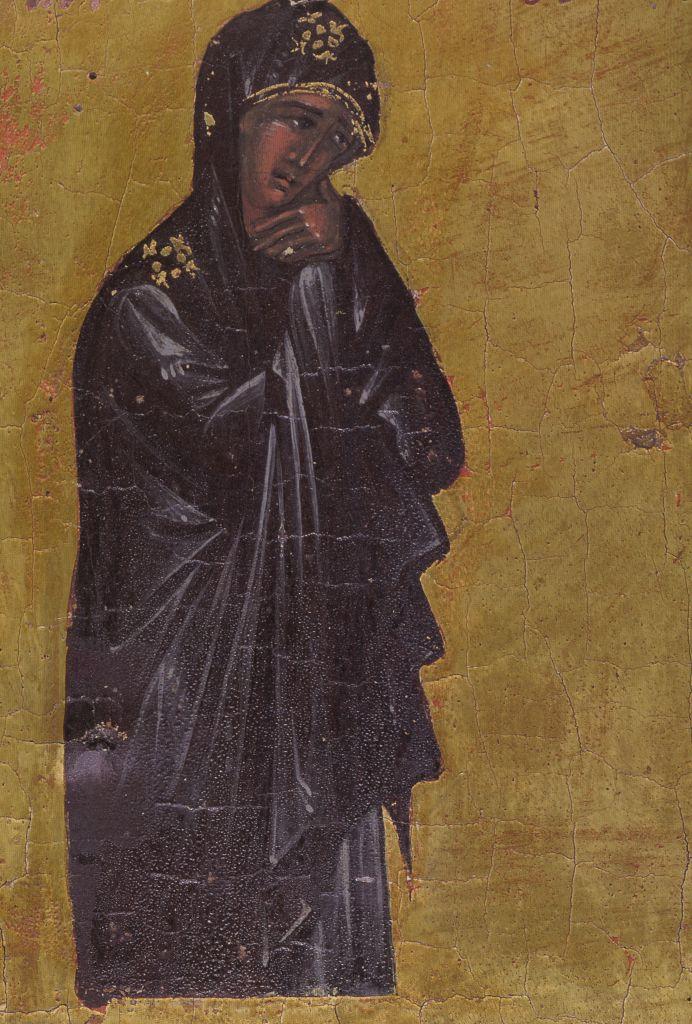 П.24б.Крест-Распятие нач. 15в. (Богоматерь)
