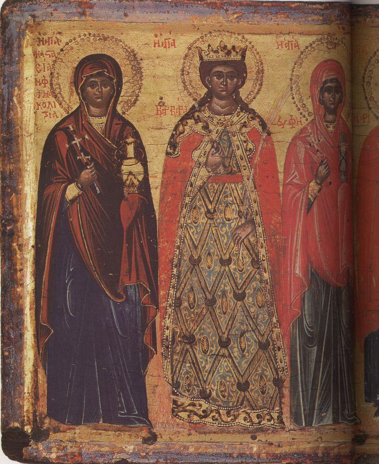 Па.109-1. Св.Анастасия, Варвара, Евфимия, Марина,Фекла, Хрис